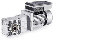 Helical-bevel geared motors with Inverter Drives 8400 motec in a power range from 0.37 to 1.5 kW