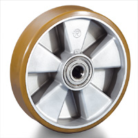 VULCANISED POLYURETHANE WHEELS AND ROLLERS