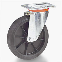 INJECTION MOULDED RUBBER WHEELS